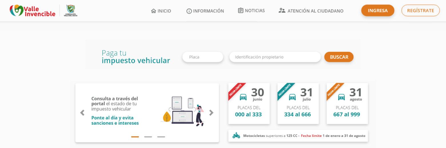 ¡Ya se puede pagar el Impuesto Automotor del Valle del Cauca!